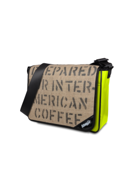 "Tasche LKW Plane &Kaffeesack ""Neon Coffee"""