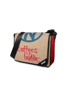 "Tasche LKW Plane & Kaffeesack ""Red India"""